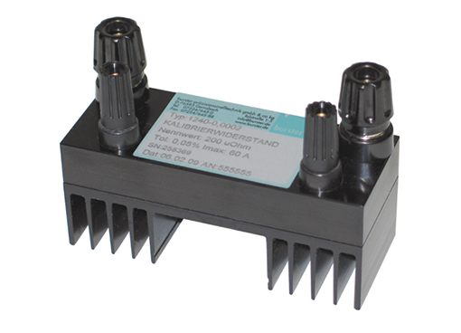 Kalibrier widerstand typ 1240 kapazitätsarm induktivitätsarm gleichstrom hohe stabilität calibration resistor model 1240 low capacitance low inductance direct current high stability burster