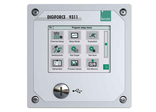 digiforce 9311 einpressen fügen clinchen überwachung prozess controller monitoring ethernet schaltschrank modul cabinet module einbau panel dms piezo potentiometrisch prozess signal profibus press fit jointing clinching monitor strain gauge gage desktop panel version process signal